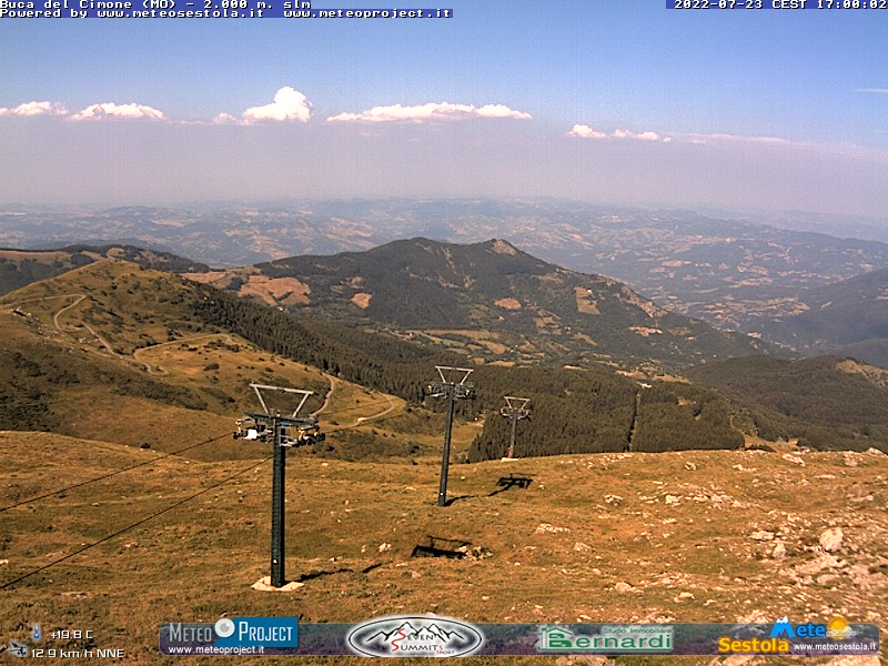 webcam Cimone (MO, 2000 m slm) in tempo reale